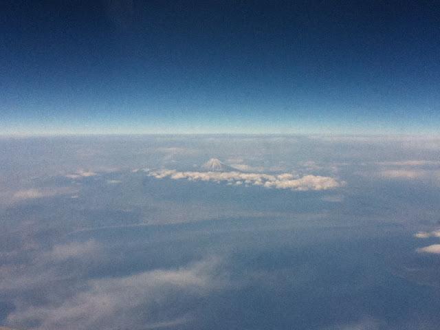 El monte Fuji visto desde un avión