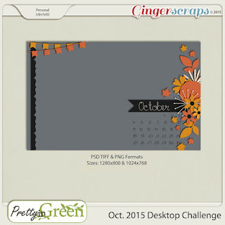 October 2015 Desktop Challenge by Pretty in Green