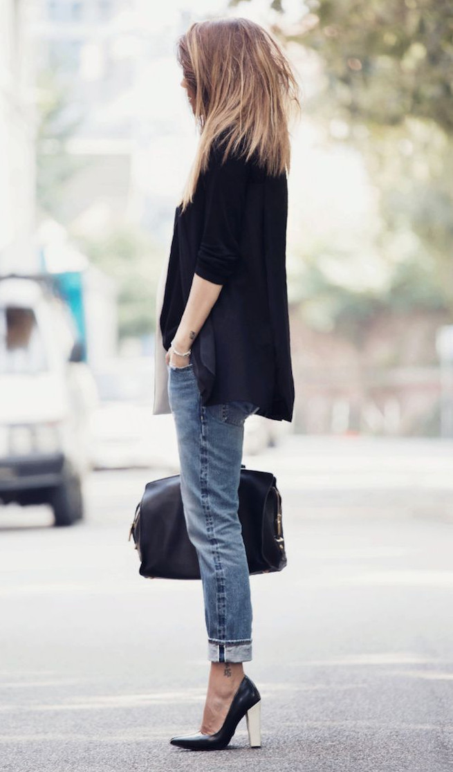 Casual attire with jeans