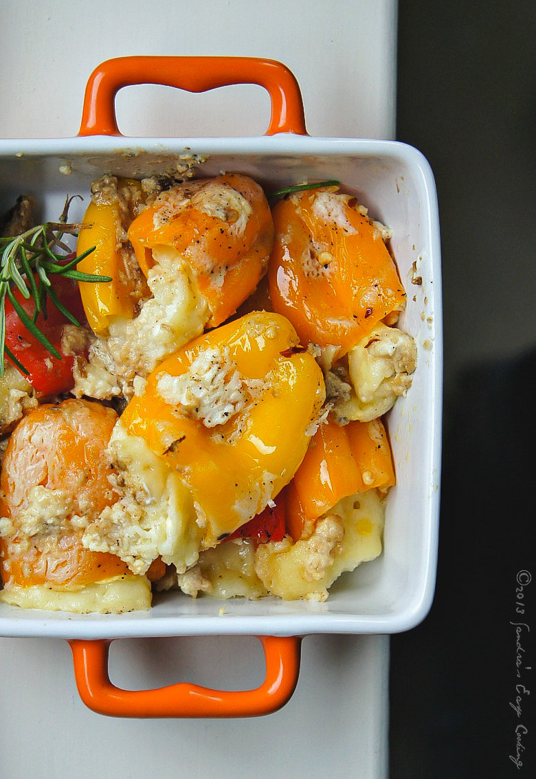 Delicious and simple recipe for Cheese Stuffed Baked Sweet Peppers