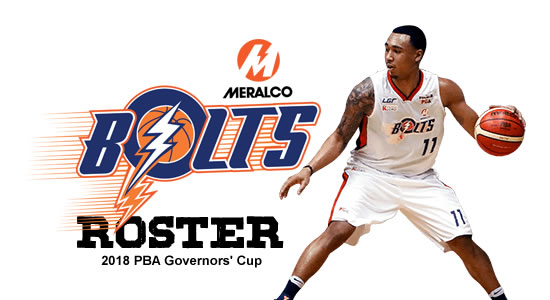 LIST: Meralco Bolts Roster 2018 PBA Governors' Cup