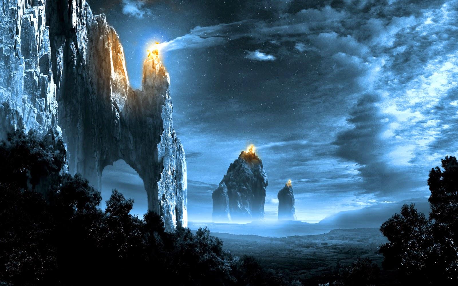 il rifugio degli elfi intervallo a base di paesaggi fantasy