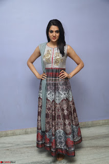 Sakshi Chaudhary Beautiful Emroidery Work Sleeveless Anarkali Dress 014.JPG