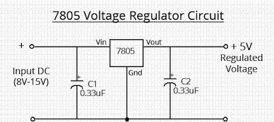 Simple 7805 Voltage Regulator Circuit | wiring radar on