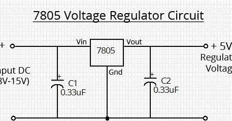 Simple 7805 Voltage Regulator Circuit   wiring radar