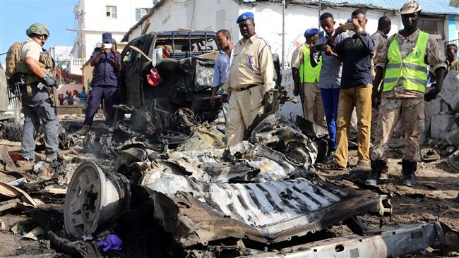 Seven killed in car bomb targeting police station in Somalia's Mogadishu