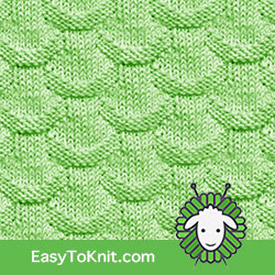 Knit Purl 32: Scales | Easy to knit #knittingstitches #knitpurl