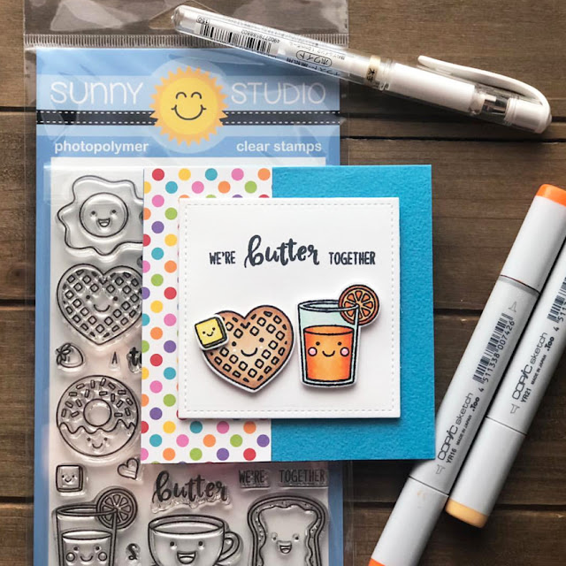 Sunny Studio Stamps: Breakfast Puns Punny Customer Card by Ashley Harris