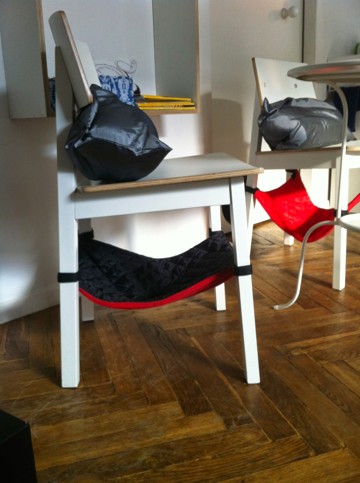 cat chairs in the cat cafe