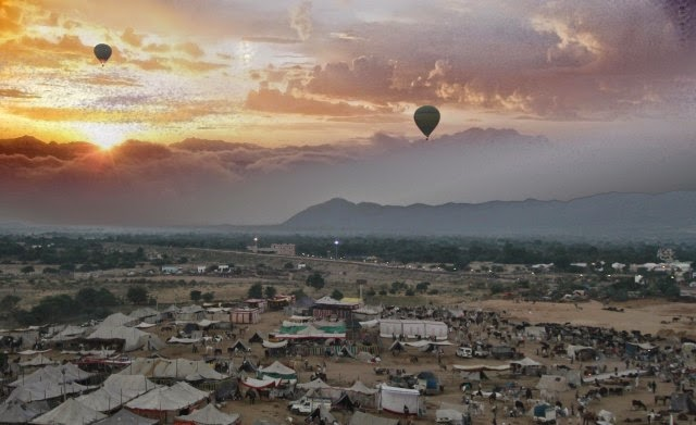 Hot Air Ballooning at Pushkar