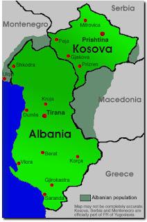 albania kosovo map ile ilgili görsel sonucu
