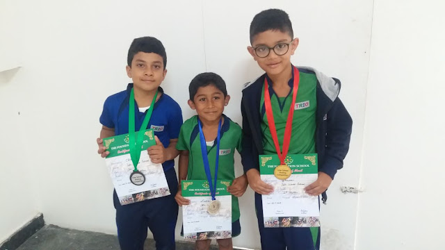 Trio World School Students Outshines in Skating Competition
