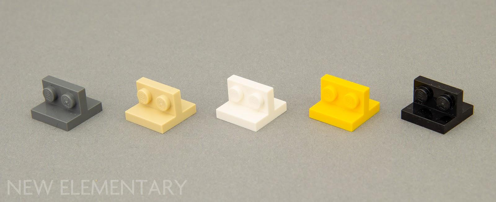 Lego 5 New Black Plates 2 x 2 Dot Corner Pieces