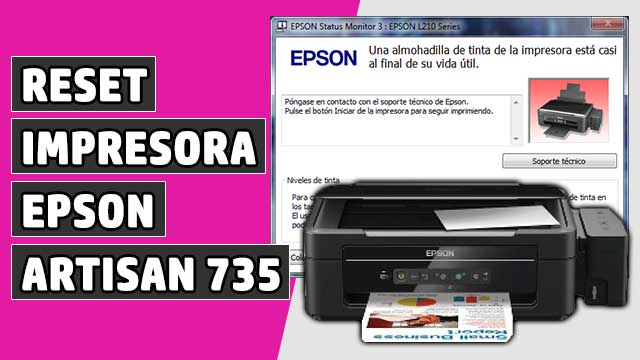 resetear Almohadillas impresora EPSON Artisan 735