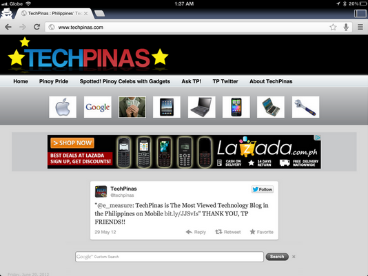 google chrome for ipad