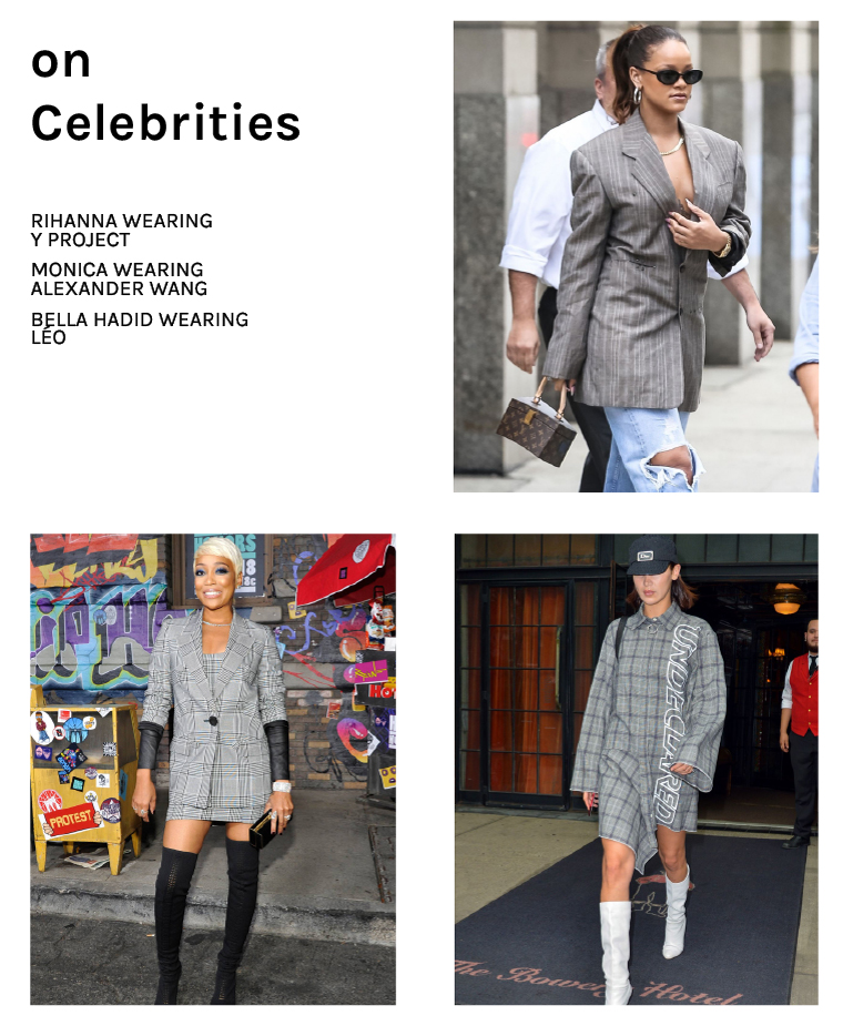 Rihanna Bella Hadid Monica Check Print