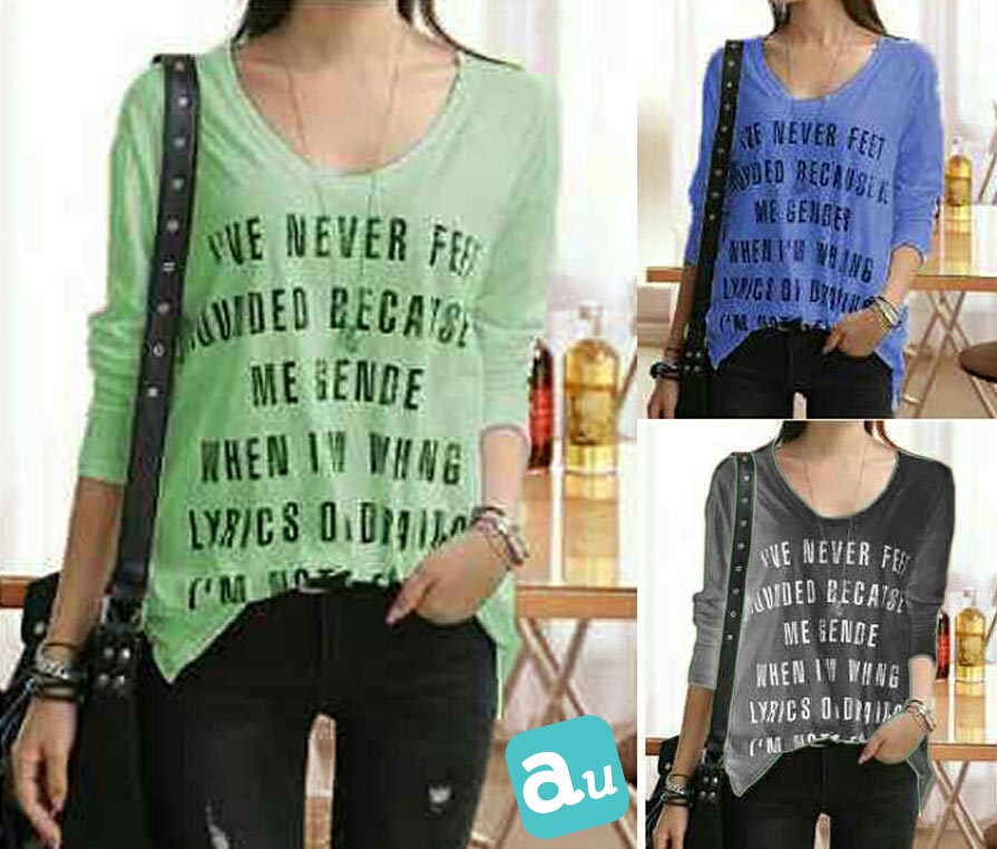 Jual Baju Lengan Panjang Never Long Sleeves Top - 13238