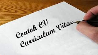 contoh cv lamaran kerja curriculum vitae