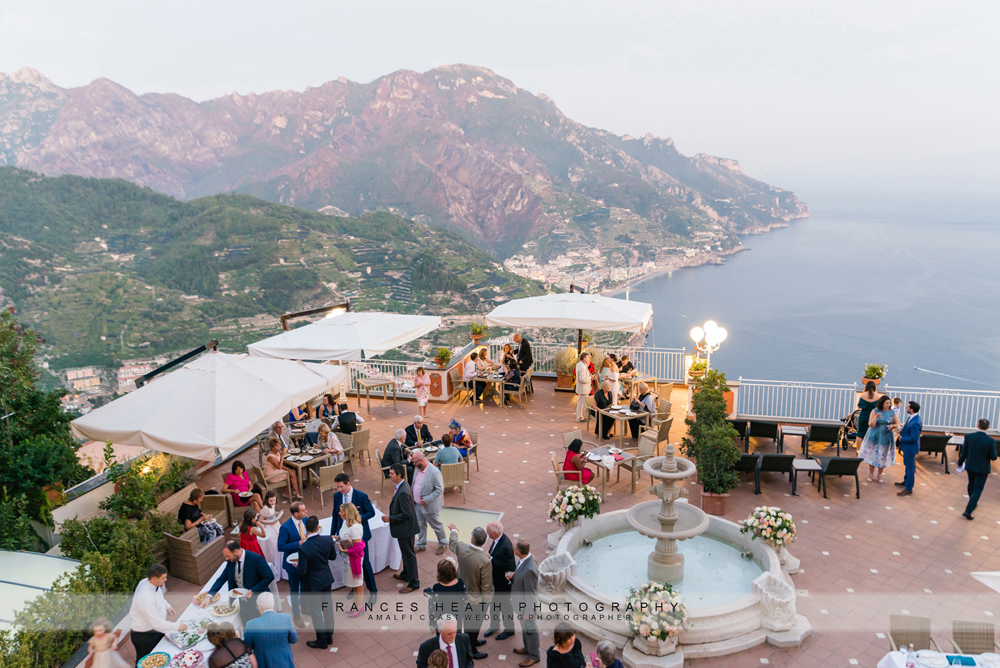 Wedding reception at Villa Fraulo