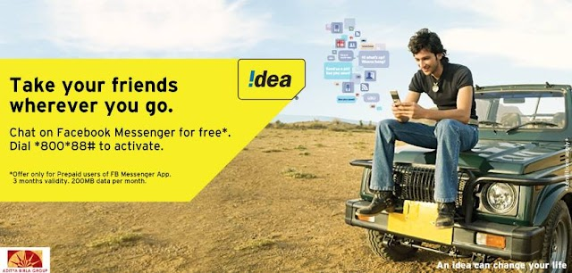 Idea Cellular Announced Free Facebook Messenger For All Idea Prepaid Customers