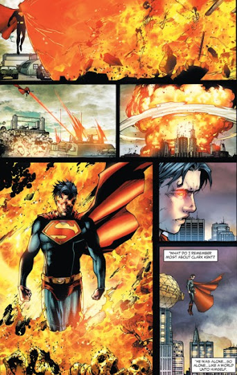 Superman engulfed in fire in Superman: Earth One