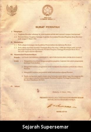 Latar Belakang Lahirnya SUPERSEMAR 11 Maret 1966