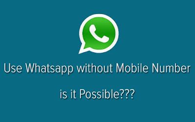 Whatsapp without mobile number code