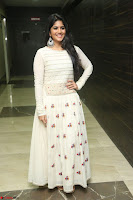 Megha Akash in beautiful White Anarkali Dress at Pre release function of Movie LIE ~ Celebrities Galleries 013.JPG