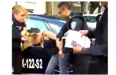 Mujer policía golpea a detenida ebria