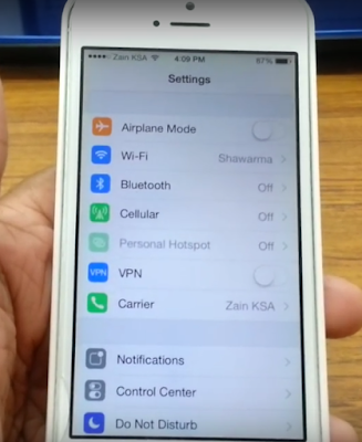 Setting Wifi Iphone IOS 9