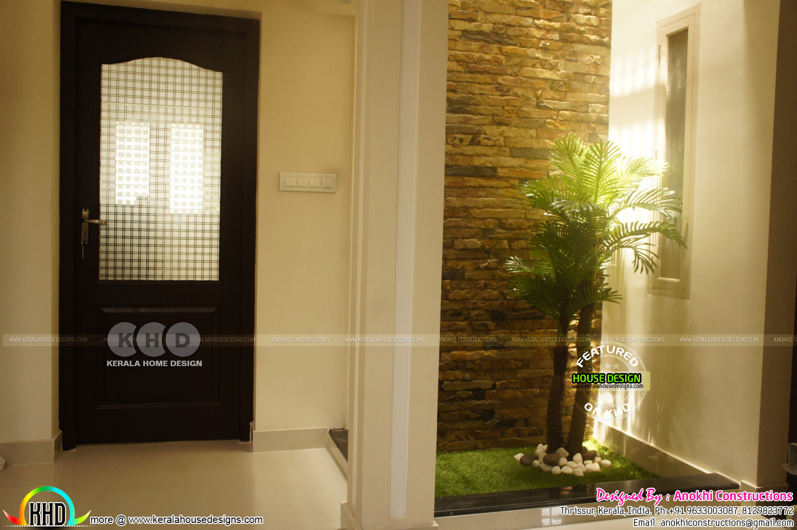 Finishing cost 32 lakhs contemporary kerala home design for Kerala foyer designs