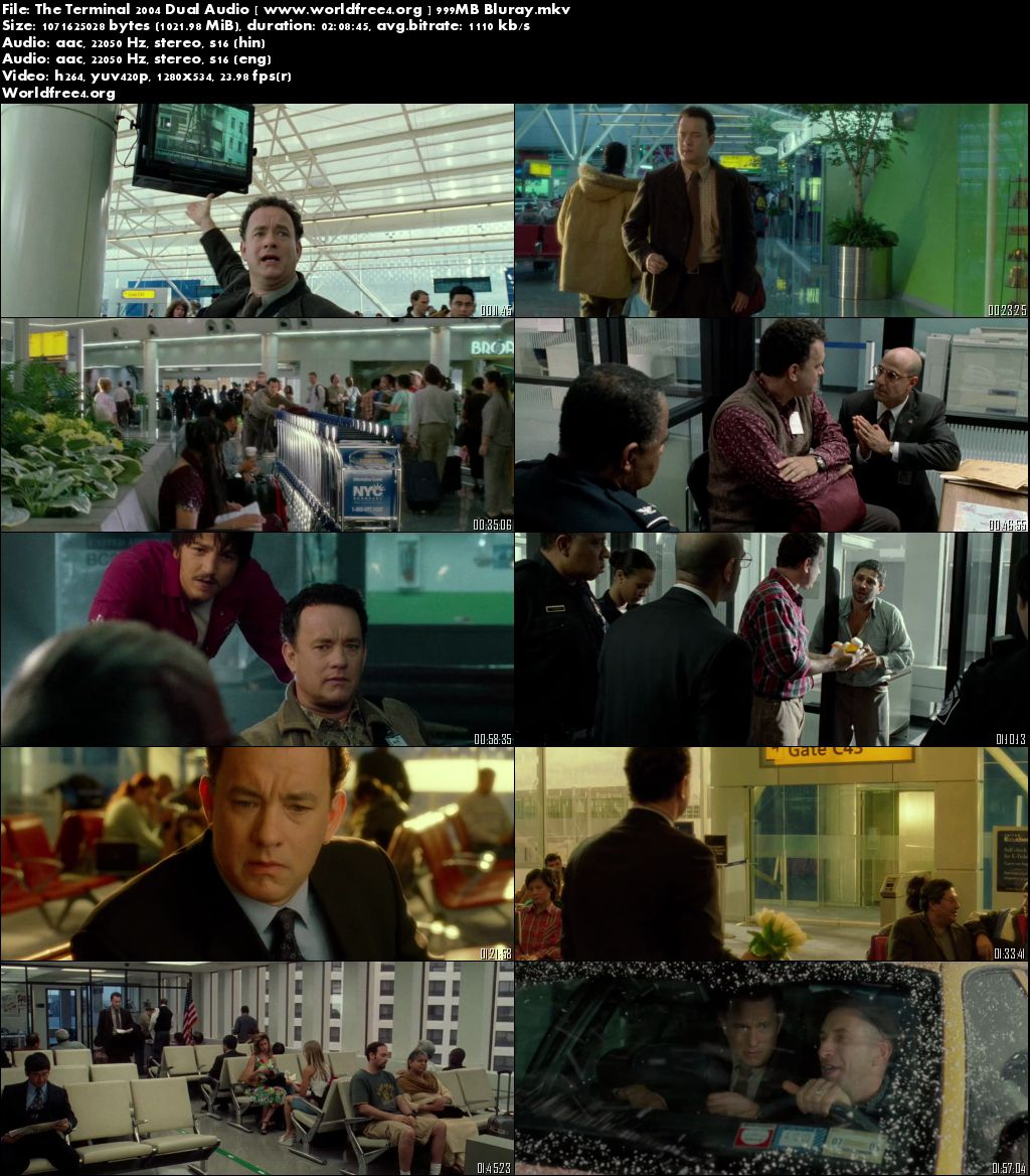 The Terminal 2004 BluRay Hindi 999MB Dual Audio 720p Download