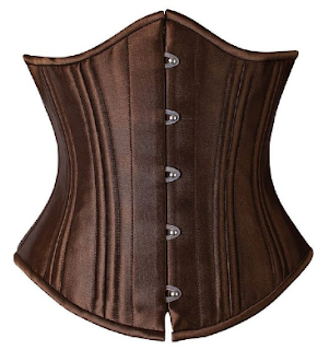 Brown Steampunk Underbost Corset Bustier Bodice for Princess Leia cosplay