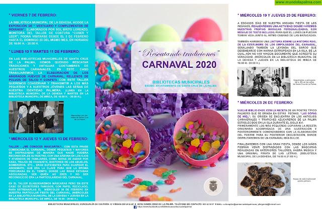 Las bibliotecas municipales de La Dehesa y Mirca han preparado una extensa programación para Carnaval