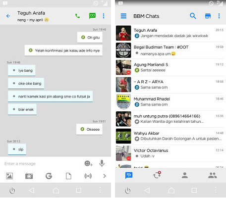 BBM Mod iPhone Style IOS v2.13.0.22 Apk Green Bubble Chat themes