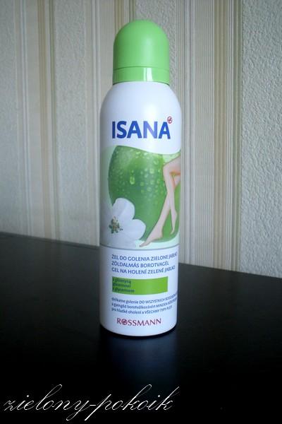 Kosmetycznie: ISANA: *żel do golenia nóg o zapachu zielonego jabłka*