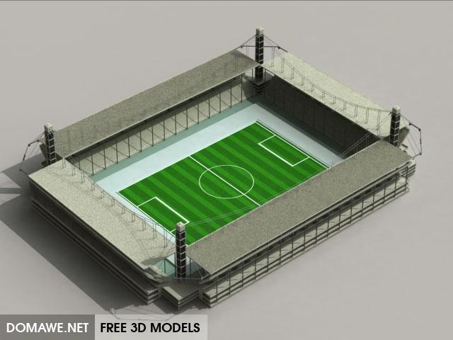 DOMAWE net: Soccer Stadium 3D Model Free Download
