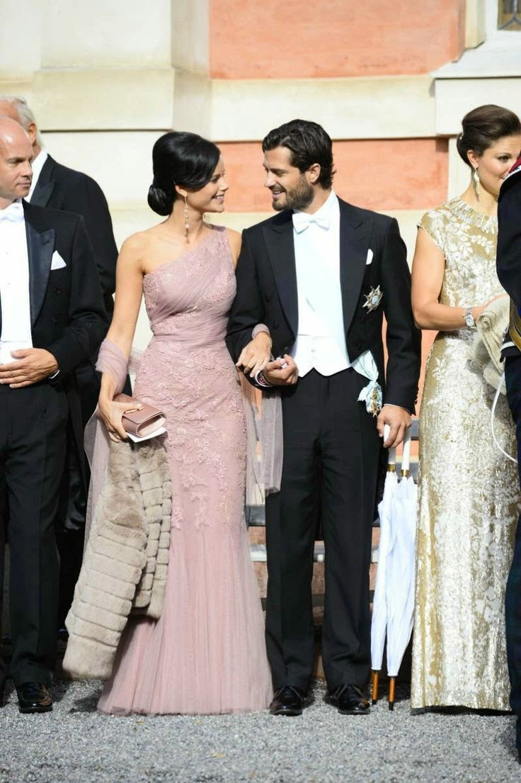 Here Comes The Bride Sofia Hellqvist With Her Handsome Prince At A Wedding Next Marriage In Sweden Will Be Hers When She Weds Carl Philip