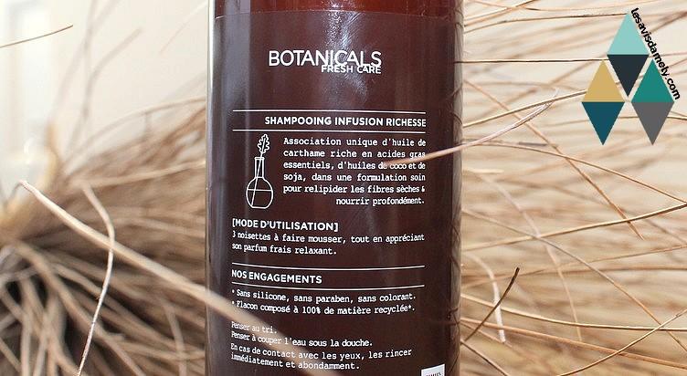shampoing riche en acide gras pour relipider les fibres sèches et nourrir profondément