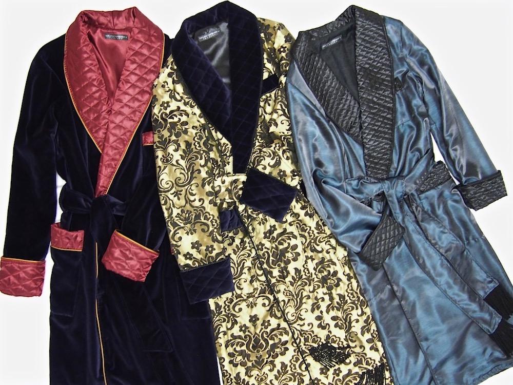 Men\'s Luxury Silk Robes, Cotton and Velvet Dressing Gowns