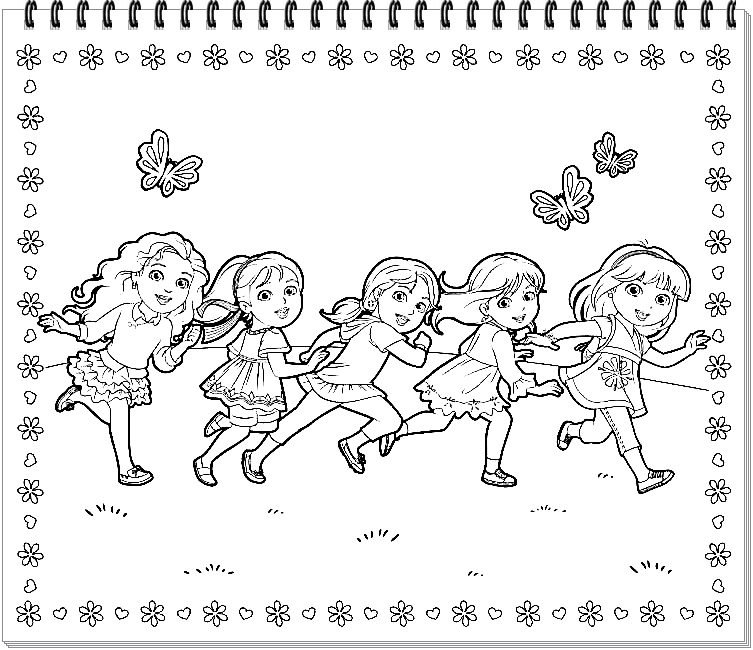 Coloring Page Dora And Friends Coloring Pages