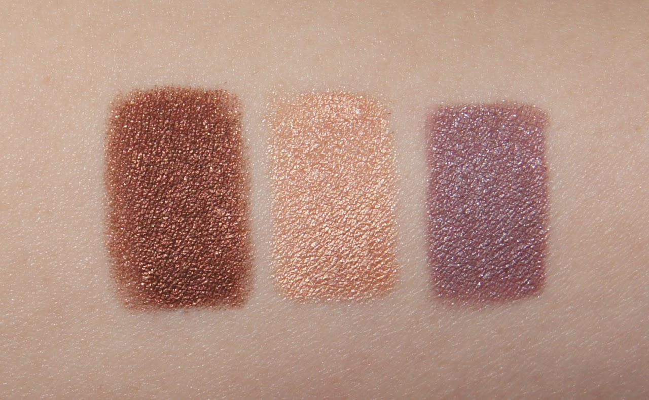 bourjois colorband 2-in-1 eyeshadow liner swatches 02 brun dadaiste 03 beige minimaliste 05 mauve baroque