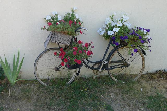 De Paris à la Rochelle en vélo couché, vélo déco