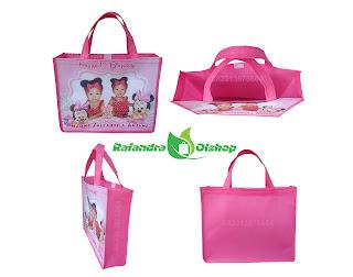 tas ulang tahun anak, tas ultah anak murah, tas souvenir ultah, souvenir ultah minnie mouse.