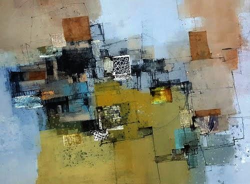 """19th - 30th Nov.2018: Pradarshak presents ""Spaces"" - Mix medium abstract paintings by Smita Srivastava"""