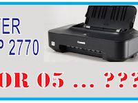 Printer Canon IP 2770 Error 05 atau Lampu Orange berkedip 5x
