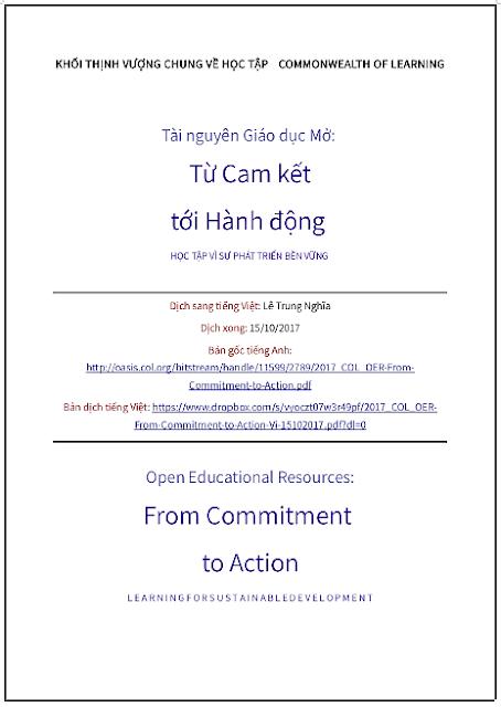 'Tài nguyên giáo dục mở: Từ cam kết tới hành động' - bản dịch sang tiếng Việt