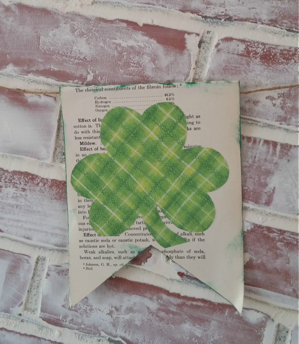 St. Patrick's Day clover pennant banner