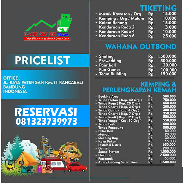 Sewa Tenda Kampung Cai | Booking Call 081323739973