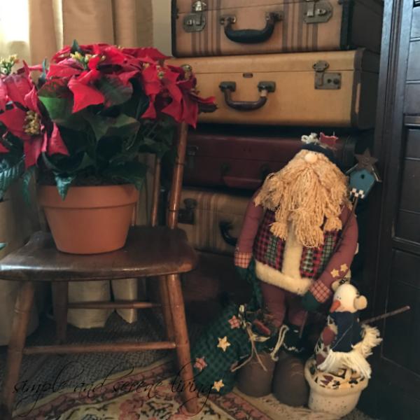 Christmas home decor country santa